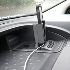 IMG_0881.JPG Download free STL file iPhone Cradle for the Vauxhall Vivaro (2014-2019) • 3D print object, moXDesigns
