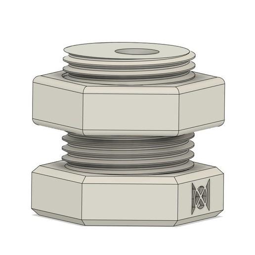 KnifeBlock CAD.jpg Download free STL file Nut & Bolt Craft Knife Block • 3D print template, moXDesigns