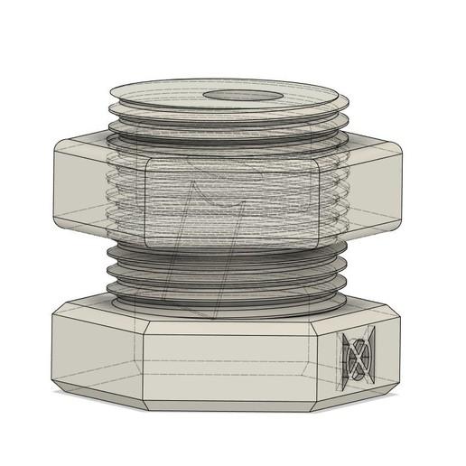 KnifeBlock_Cthru CAD.jpg Download free STL file Nut & Bolt Craft Knife Block • 3D print template, moXDesigns