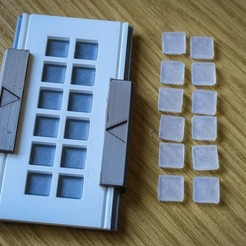 mould and pads.JPG Download free STL file Silicone Pad Mould • 3D printer object, moXDesigns