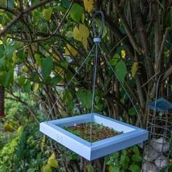 iso.JPG Télécharger fichier STL gratuit Table d'oiseaux suspendus • Plan à imprimer en 3D, moXDesigns