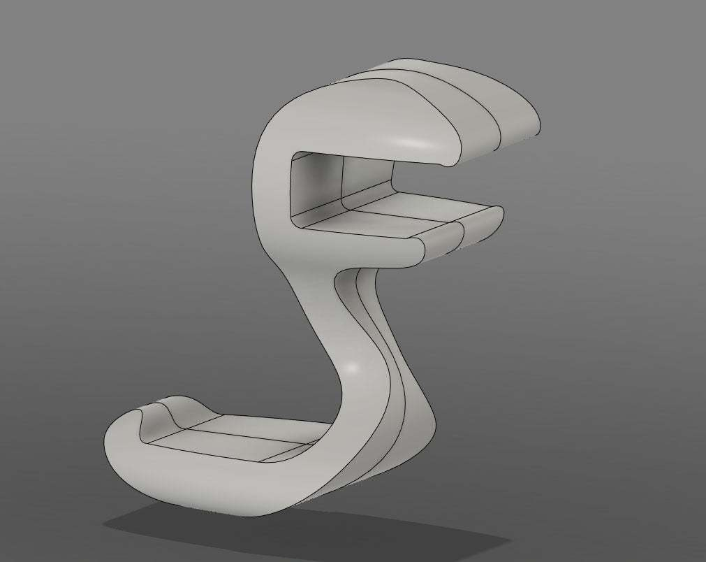 "CHH_CAD.jpg Download free STL file ""Cobra"" Headphone Hook • 3D printable design, moXDesigns"