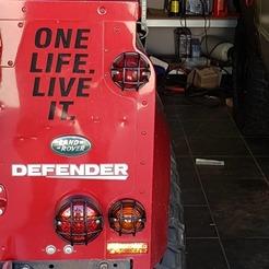Télécharger STL gratuit Land Rover Defender : Gardiens de la lampe, langlat