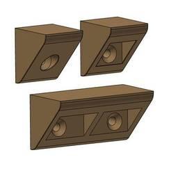 Download 3D printer designs Shelf holders, Klaudius3D