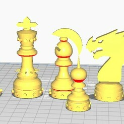Untitled-1.jpg Download STL file CHESS • Template to 3D print, 3dPLAnet