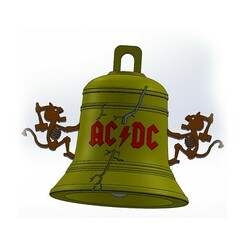 Untitled-1.jpg Download STL file AC/DC BELL • 3D printable template, 3dPLAnet