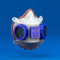 celestialbody.JPG Download STL file Respirator Mask • 3D print object, bklab