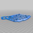 Télécharger fichier STL gratuit Double plaque d'interrupteur Ergodash à trous allongés • Modèle pour impression 3D, lryb