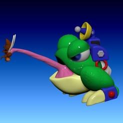 ZBrush Document.jpg Download STL file Toad, J Frog, Gunbound, Dragonbound, GunboundM • Model to 3D print, DarkSculpt