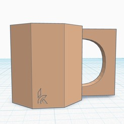 Download 3D printer designs Mug with a Square Handle, kdoss2707