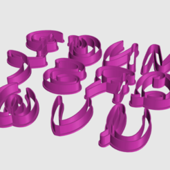 Captura de pantalla 2020-05-01 a la(s) 22.56.23.png Download STL file Disney Alphabet / Font Cutter • Template to 3D print, Forma3D