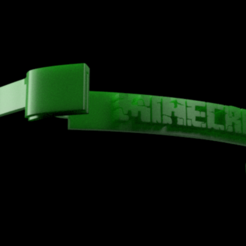 FS-K-MINECRAFT v1.png Download STL file Face-Shield Minecraft • 3D printer design, gaaangulo