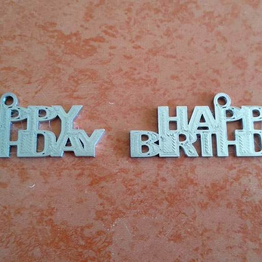 Download free 3D printer designs Happy Birtday Keychain, ian57