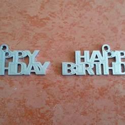 Télécharger STL gratuit Porte-clés Happy Birtday, ian57