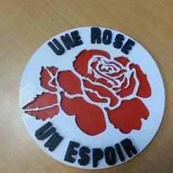 Download free 3D printing files Une Rose Un Espoir, ian57