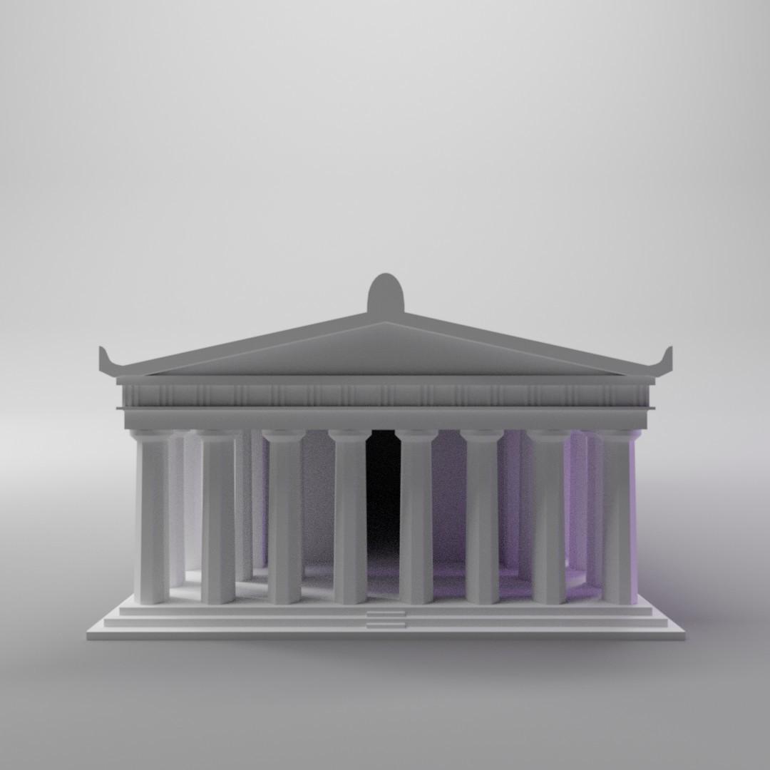 parthenon4.jpg Télécharger fichier STL gratuit Parthénon (mini version simple) • Design pour impression 3D, dh_str