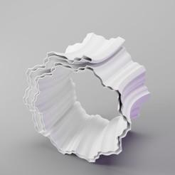 coral brace_2aa.jpg Download STL file Coral Bracelet (curved) • 3D printable template, dh_str
