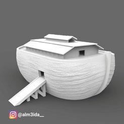 NoahArk.png Download STL file Noah's Ark - Genesis • Design to 3D print, marcusalm3ida