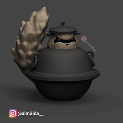 Shukaku.png Download STL file Shukaku in a tea pot - Boruto • Design to 3D print, marcusalm3ida