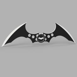 Batarang v1.png Télécharger fichier STL gratuit Batarang - Arme de Batman • Objet imprimable en 3D, marcusalm3ida
