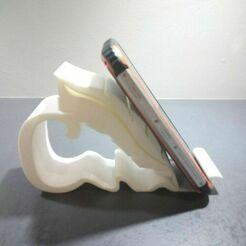 2.jpg Download STL file Mobile phone holder - phone holder • 3D printing object, DRE-3D-FREPS-DESIGN
