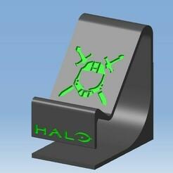 A.jpg Télécharger fichier STL Stand XBOX design HALO - Support manette XBOX HALO design • Modèle pour impression 3D, DRE-3D-FREPS-DESIGN