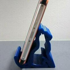1.jpg Download STL file Mobile phone holder - phone holder • 3D printing object, DRE-3D-FREPS-DESIGN