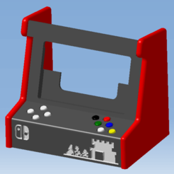 1.png Télécharger fichier STL NINTENDO SWITCH STAND ARCADE - Support • Design pour imprimante 3D, 3DFREPSDESIGN