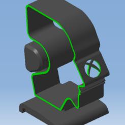 4.png Télécharger fichier STL XBOX Support casque audio - Audio headset support XBOX • Objet pour imprimante 3D, 3DFREPSDESIGN