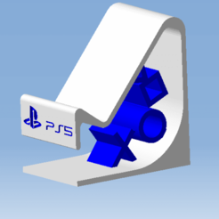 1.png Download STL file DualSense PS5 Stand - DualSense controller stand • Design to 3D print, 3DFREPSDESIGN