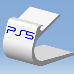 1.png Télécharger fichier STL Stand PS5 DualSense - Support manette DualSense • Modèle imprimable en 3D, 3DFREPSDESIGN