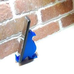 Descargar STL gratis Soporte de teléfono para pájaros (de pie), 3dukes1daisy