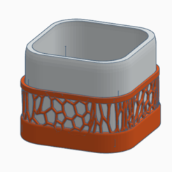 Download 3D printing files Cube pot with voronoi cube detail, nicdure