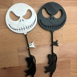 Download 3D printer designs Jack Skellington and Sally Ballon flight, Mikem610nospam