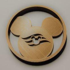 Imprimir en 3D gratis Adorno de Mickey en el crucero de Disney, Mikem610nospam