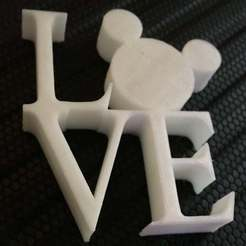 Download free 3D printing models Mickey Love Statue Magnet, Mikem610nospam