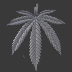 Descargar STL gratis Colgante hoja marihuana, karzlos7