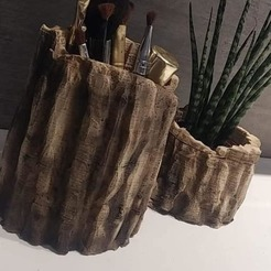 94520875_113643040325566_6612741303455186944_n.jpg Download OBJ file Wood stump pots for flower and more 3D print model • Design to 3D print, NightCreativity