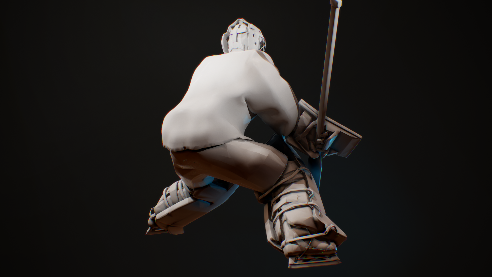 screenshot027.png Télécharger fichier OBJ hockey goalie model no texture • Modèle à imprimer en 3D, NightCreativity
