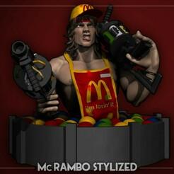 1.jpg Télécharger fichier OBJ Mc Rambo Stylized cartoon 3D print model • Design pour impression 3D, NightCreativity