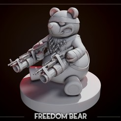 ZBrush Document2234.jpg Download OBJ file Freedom Bear from Deadrising sculpt • 3D printable template, NightCreativity