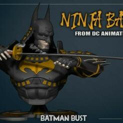 final1_2.jpg Télécharger fichier OBJ Batman Ninja Bust Samourai 3D print model • Design à imprimer en 3D, NightCreativity