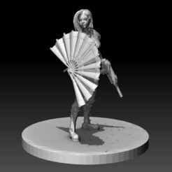 1.jpg Download OBJ file SciFi Cyberpunk Female ninja soldier figurine for 3d printing 3D print model • Model to 3D print, NightCreativity