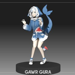 f1.jpg Download OBJ file Gawr Gura Anime figure for 3d printing 3D print model • 3D printable object, NightCreativity
