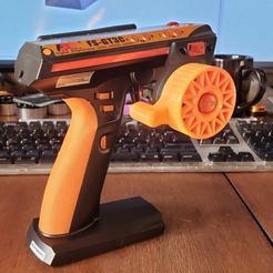 GT3C Thumb Steer Wheel_1.JPG Télécharger fichier STL Roue directrice à pouce GT3C (FlySky) • Objet pour impression 3D, 10thScaleAdventures