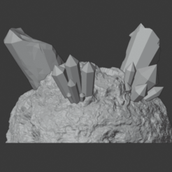 Download free STL file Crystal Formations (Cluster 4 - Damaged), LordInvoker