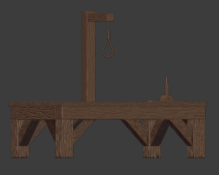 Gallows-002.png Download free STL file The Gallows • 3D print template, LordInvoker