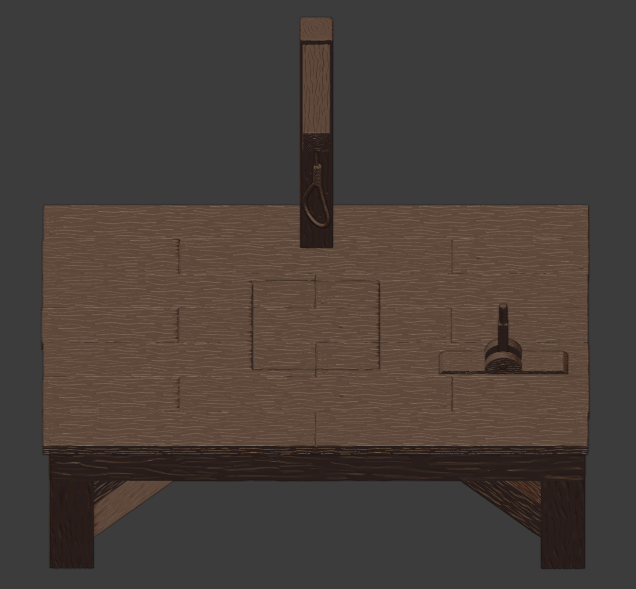 Gallows-006.png Download free STL file The Gallows • 3D print template, LordInvoker