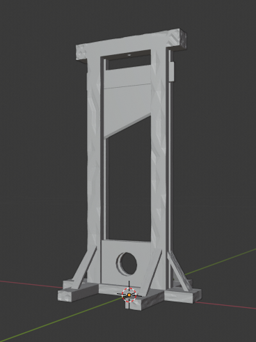 Guillotine-02.png Télécharger fichier STL gratuit Guillotine médiévale • Design imprimable en 3D, LordInvoker