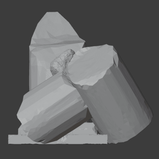 Ruined Pillar-004.png Download free STL file Collapsed Pillar ( Ruined Column ) • Design to 3D print, LordInvoker
